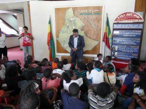 Nauka geografii w Muzeum Narodowym w Addis Abebie