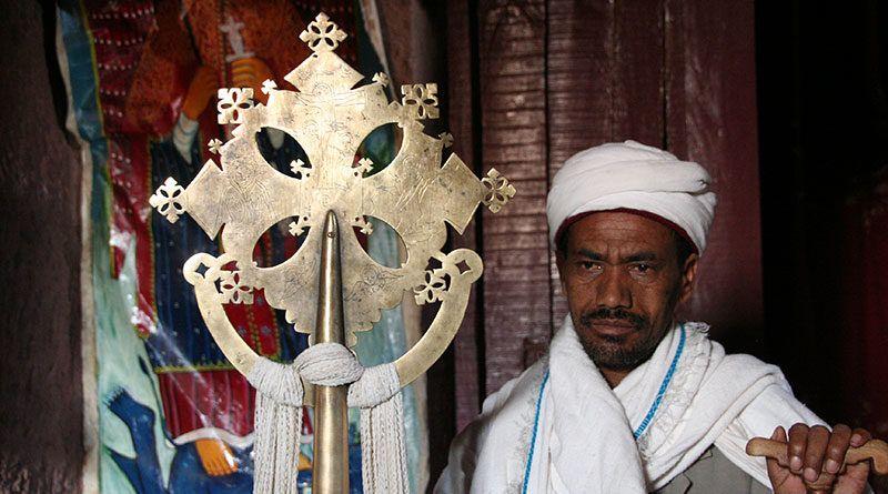 Krzyż w kościele w Lalibeli
